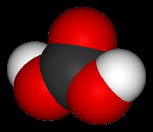 Молекула угольной кислоты