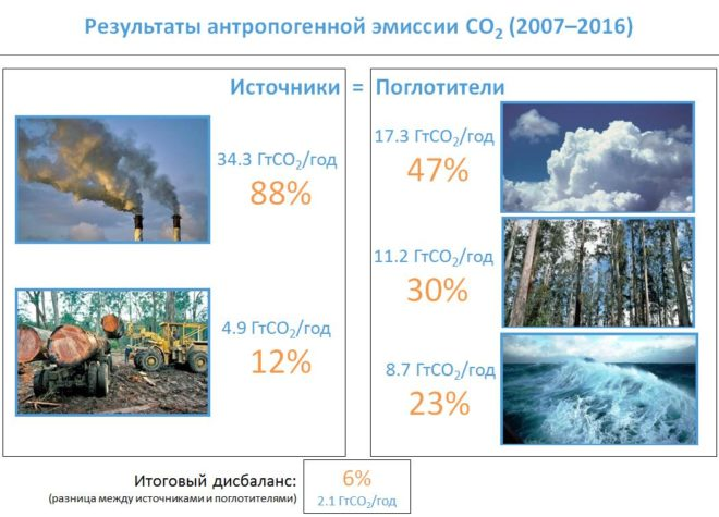 Источники и поглотители CO2